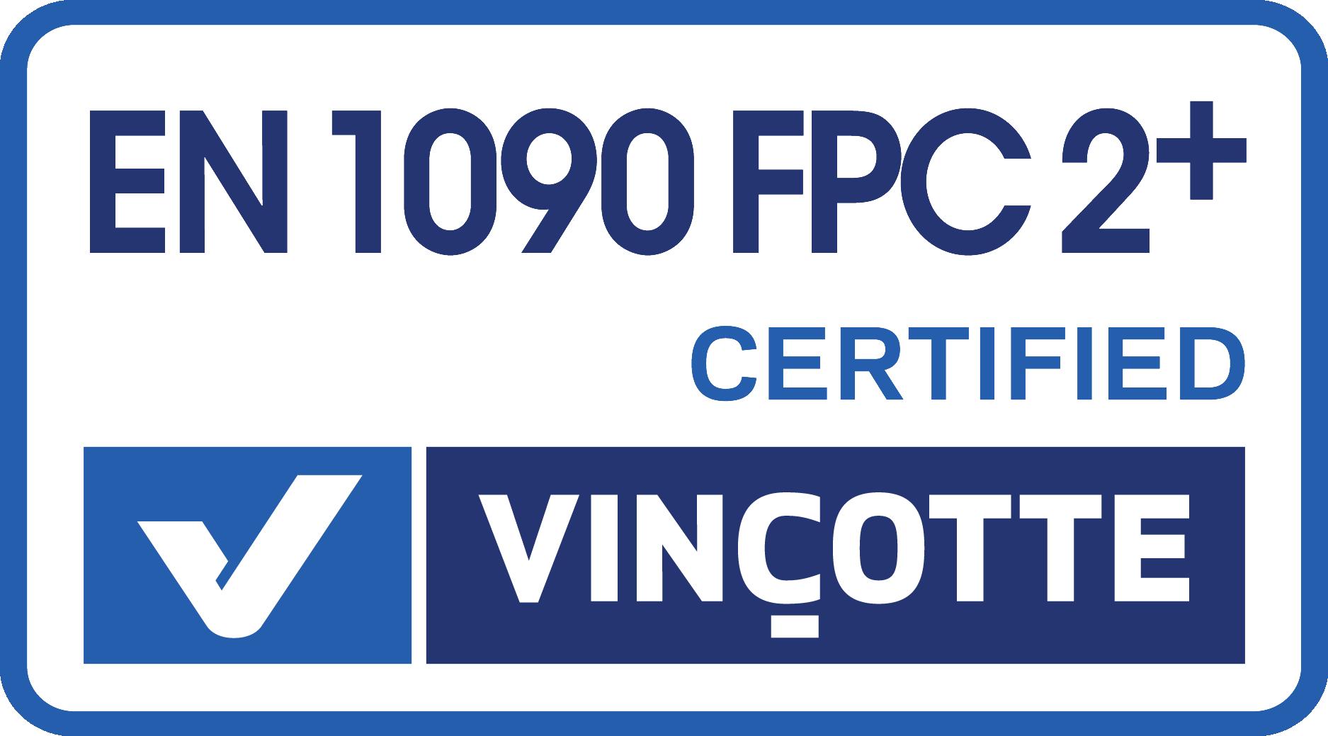Certificaat EN 1090 FPC 2+